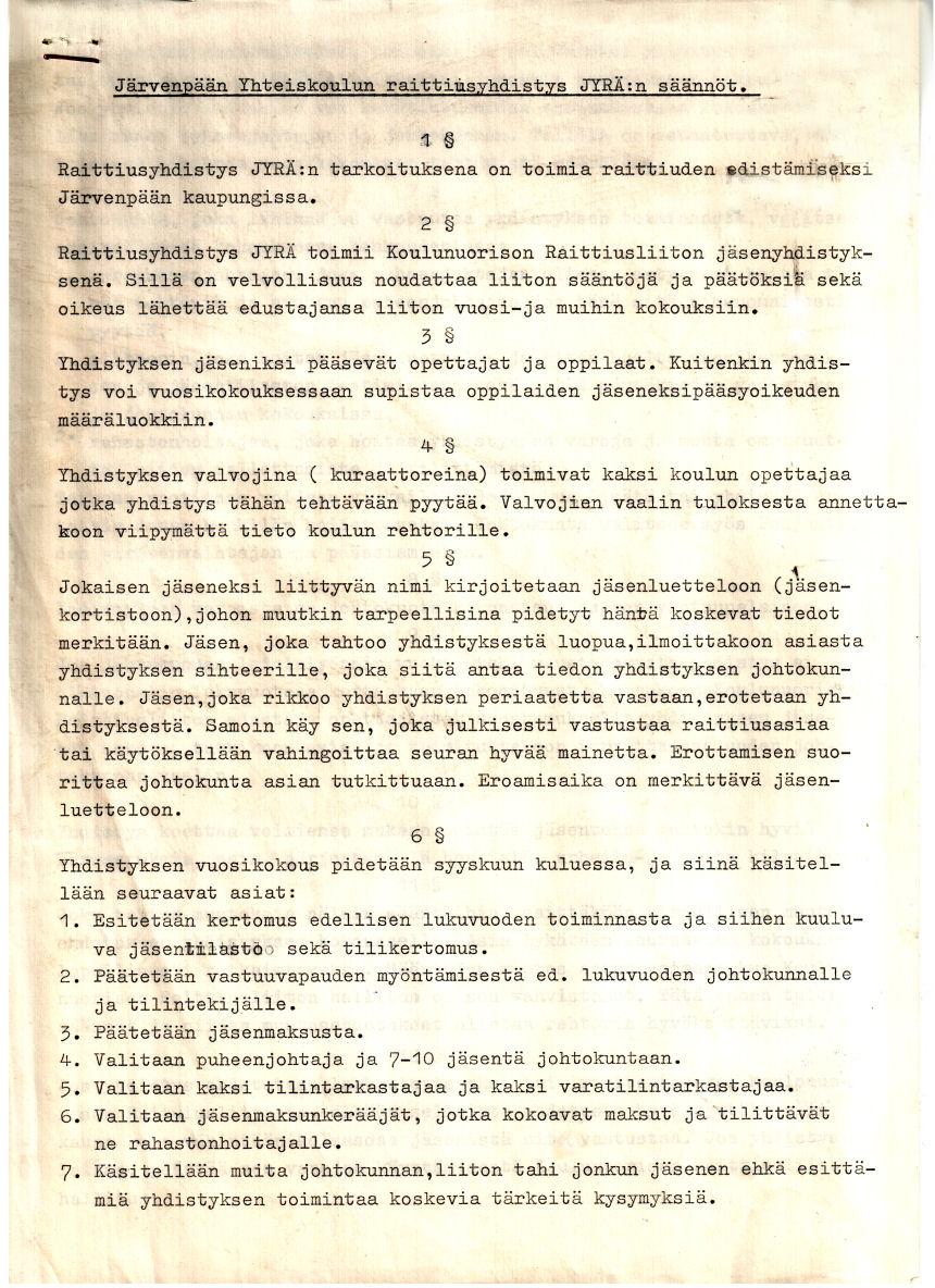 Jyrän säännöt sivu 1