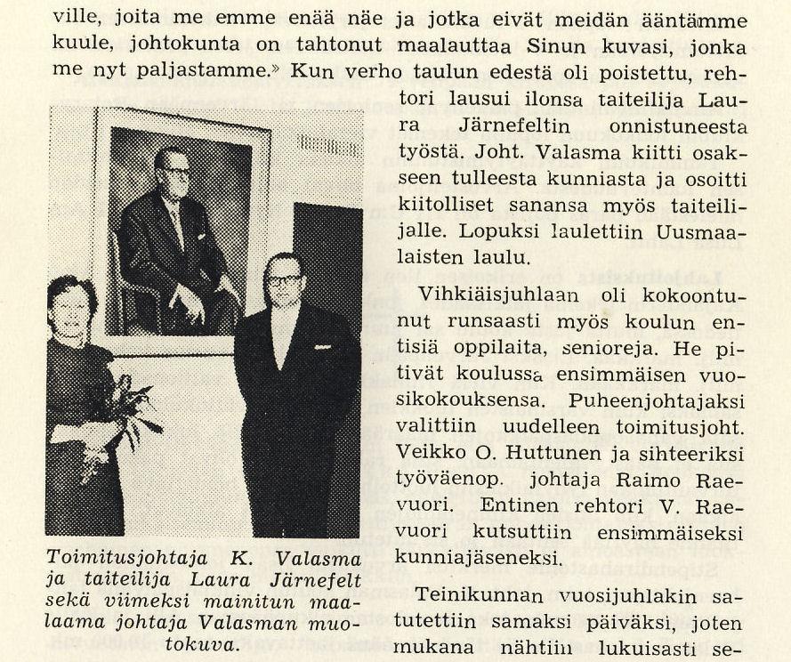 muotokuvan paljastaminen 1961