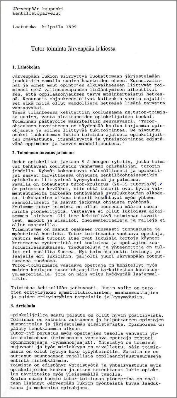 Laatutekokunniakirja 2000